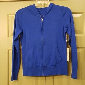 Beautiful NWT Margaret O'Leary zip up sweater